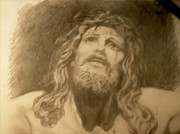 Crucifixtion  Art - My Jesus by Diane Stamp