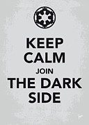 Dark Digital Art - My Keep Calm Star Wars - Galactic Empire-poster by Chungkong Art