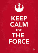 Symbolism Digital Art Acrylic Prints - My Keep Calm Star Wars - Rebel Alliance-poster Acrylic Print by Chungkong Art