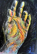 Human Nature Drawings Posters - My left hand 3 Poster by Roberto Gagliardi