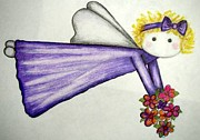 Angelic Drawings - My Little Angel by Jan Muse