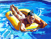 Nude Male Paintings - My Little Boat by Douglas Simonson