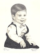 Little Boy Drawings Framed Prints - My Little Boy Framed Print by Patricia Hiltz