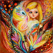 Pop Surrealism Paintings - My little fairy Amber by Elena Kotliarker