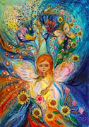 Jewish Art Posters - My little fairy Caren Poster by Elena Kotliarker
