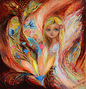 Symbols Painting Originals - My little fairy Sandy by Elena Kotliarker