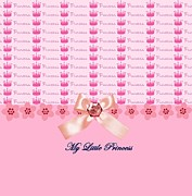 Party Birthday Party Digital Art Prints - My Little Princess Print by Debra  Miller