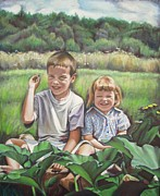 Ontario Portrait Artist Paintings - My Little Sister by Sheila Diemert