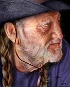 Willie Nelson Posters - My Man Willie Poster by Reggie Duffie