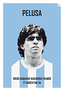 Nickname Prints - My MARADONA soccer legend poster Print by Chungkong Art