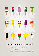 Cream Digital Art Framed Prints - My MARIO ICE POP - UNIVERS Framed Print by Chungkong Art