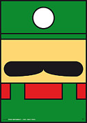 Luigi Digital Art Metal Prints - My Mariobros Fig 02 Minimal Poster Metal Print by Chungkong Art