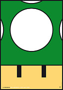 Luigi Digital Art Metal Prints - My Mariobros Fig 05b Minimal Poster Metal Print by Chungkong Art