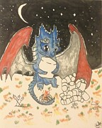 Blue Dragon Art - My Marshmallows by Blue Dragon
