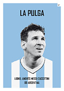 Nickname Prints - My Messi soccer legend poster Print by Chungkong Art