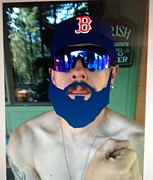 Redsox Photos - My Mike Napoli Beard by Jeremiah Colley