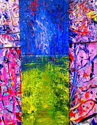 Stacked Paintings - My Morning Walk by Allen n Lehman