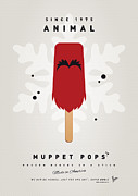 Books Digital Art Acrylic Prints - My MUPPET ICE POP - Animal Acrylic Print by Chungkong Art