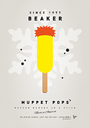 Game Digital Art Prints - My MUPPET ICE POP - Beaker Print by Chungkong Art