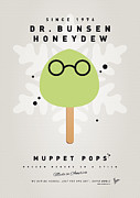 Game Digital Art Prints - My MUPPET ICE POP - Dr Bunsen Honeydew Print by Chungkong Art