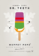 Game Digital Art Prints - My MUPPET ICE POP - Dr Teeth Print by Chungkong Art