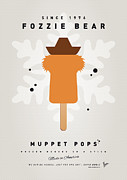 Books Digital Art Prints - My MUPPET ICE POP - Fozzie Bear Print by Chungkong Art