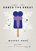 Books Digital Art Prints - My MUPPET ICE POP - Gonzo Print by Chungkong Art