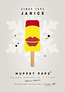 Books Digital Art Prints - My MUPPET ICE POP - Janice Print by Chungkong Art