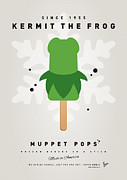 Frog Artwork Prints - My MUPPET ICE POP - Kermit Print by Chungkong Art