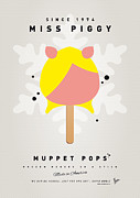 Cream Digital Art Framed Prints - My MUPPET ICE POP - Miss Piggy Framed Print by Chungkong Art