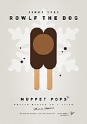 Dog Print Digital Art Framed Prints - My MUPPET ICE POP - Rowlf Framed Print by Chungkong Art