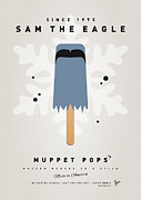 Comic Books Digital Art - My MUPPET ICE POP - Sam the eagle by Chungkong Art
