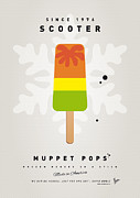 Game Digital Art Prints - My MUPPET ICE POP - Scooter Print by Chungkong Art