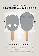 Game Digital Art Prints - My MUPPET ICE POP - Statler and Waldorf Print by Chungkong Art