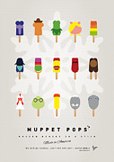 Cream Digital Art Framed Prints - My MUPPET ICE POP - UNIVERS Framed Print by Chungkong Art