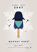 Game Digital Art Prints - My MUPPET ICE POP - Zoot Print by Chungkong Art