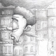 Rooftop Drawings - My Neck of the Woods by Levi Robinson aka Snoop