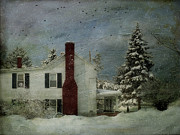 Snow Landscapes Art - My Neighbors by Kathy Jennings