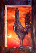 Battery Hens Framed Prints - My Nightmare Framed Print by Jean Walker