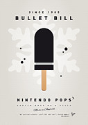 Peach Digital Art Prints - My NINTENDO ICE POP - Bullet Bill Print by Chungkong Art