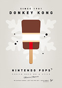 Super Mario Bros Digital Art Framed Prints - My NINTENDO ICE POP - Donkey Kong Framed Print by Chungkong Art