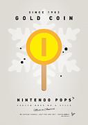My Nintendo Ice Pop - Gold Coin Print by Chungkong Art