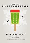 My Nintendo Ice Pop - King Bowser Print by Chungkong Art