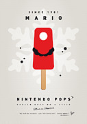 Mushroom Digital Art Prints - My NINTENDO ICE POP - Mario Print by Chungkong Art
