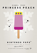 Luigi Digital Art Metal Prints - My NINTENDO ICE POP - Princess Peach Metal Print by Chungkong Art
