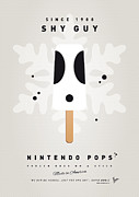 Peach Digital Art Prints - My NINTENDO ICE POP - Shy Guy Print by Chungkong Art