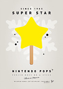 Peach Digital Art Prints - My NINTENDO ICE POP - Super Star Print by Chungkong Art