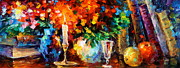 Candle Painting Originals - My old Thoughts by Leonid Afremov