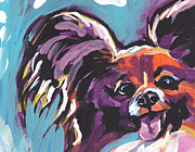 Papillon Dog Paintings - My Pappy by Lea