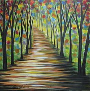 Abstract Realism Paintings - My Path by Molly Roberts